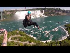 A new zipline attraction lets thrill-seekers take in the best views of Niagara Falls. But let's be honest, it looks terrifying, right? Nice View, Niagara Falls, Mists, Picture Video, Attraction, Around The Worlds, Good Things, Activities, Adventure