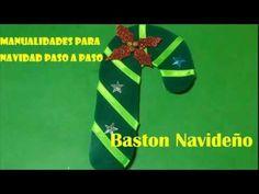 Manualidades Para Navidad Paso a Paso , Baston Navideño, Caramelo,Manualidades Para Navidad - YouTube