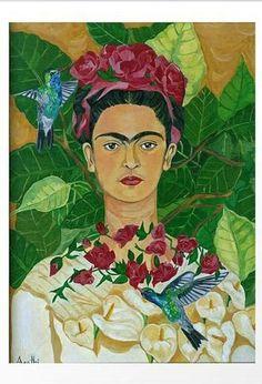 Frida In Heaven Painting - Frida Kahlo Frida E Diego, Diego Rivera Frida Kahlo, Frida Art, Heaven Painting, Heaven Art, Mexican Artists, Mexican Folk Art, Kahlo Paintings, Oeuvre D'art
