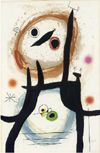 JOAN MIRÓ Angora Woman Hand-signed etching, aquatint and carborundum Image size framed: 49 × 33 inches. Call Mark at: for details on other original signed works by Miro. Max Ernst, Spanish Painters, Spanish Artists, Magritte, Joan Miro Paintings, Art Moderne, Art File, Oeuvre D'art, Art History