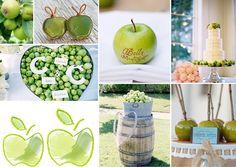 Moodboard Hochzeit grün | Friedatheres