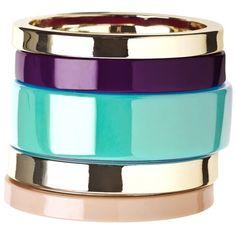 Malene Birger Cirkella bracelet set ($34) ❤ liked on Polyvore featuring jewelry, bracelets, accessories, bijoux, pulseras, plastic bangles, bracelets & bangles, bracelet bangle, bracelet jewelry and womens jewellery