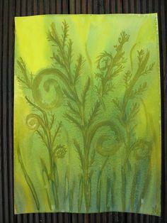 Waldorf ~ 5th grade ~ Botany ~ Ferns ~ watercolor painting