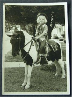 Once I sat on one of these traveling ponies in my neighborhood....