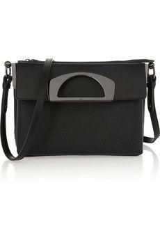 Christian Louboutin Passage textured-leather shoulder bag | NET-A-PORTER