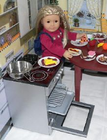 "18"" doll kitchen table/stove"