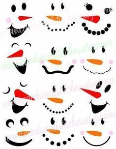 Bastelideen This snowman faces SVG digital cutting file is perfect for snowman. So you can put them Christmas Art, Christmas Projects, Winter Christmas, Christmas Wood Crafts, Christmas Quotes, Cricut Christmas Ideas, Wooden Christmas Decorations, Painted Christmas Ornaments, Snowman Ornaments