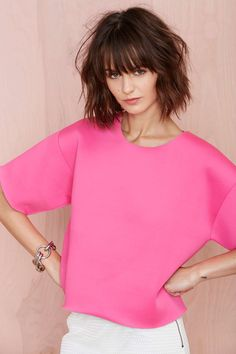 Tiffany Neoprene Tee at Nasty Gal