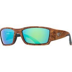 a9fdb615a5c77 Costa Del Mar Sunglasses Corbina Glass Frame Gunstock Lens Polarized Green  Mirror Wave 400 Glass