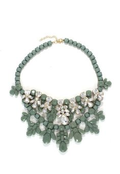 Jade Colour Chandelier Necklace