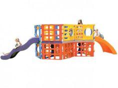 Mega Playground com Escorregador - Xalingo com as melhores condições você encontra no Magazine Wordfree. Confira!