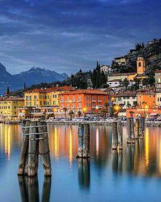 Beautiful colors of Torbole, Lake Garda in Italy