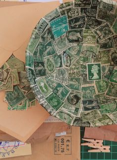 mail art - paper mache bowl -- wow -- I could put some of my mail art in this