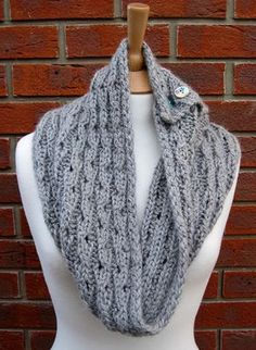 Ravelry: Rib Lace Scarf/Cowl pattern by Fiona Morris