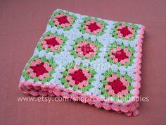 ENERGY. Crocheted baby blanket