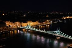 Liberty bridge at night :: Budapest :: photo by Riccsi (Richárd Sárközi) Liberty Bridge, Tower Bridge, Budapest, Night, Photos, Travel, Pictures, Voyage, Trips