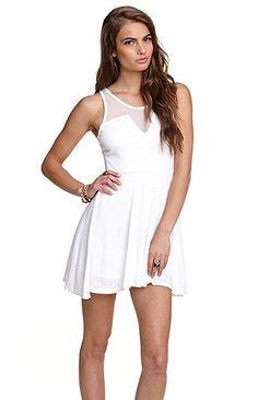 Textured Knit Mesh Dress