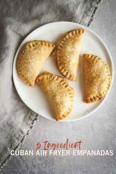 If you're anything like me, you love Cuban sandwiches! Today I'm sharing a super delicious and easy recipe for 5 ingredient Cuban air fryer empanadas. Air Fry Recipes, Air Fryer Recipes Easy, Cooking Recipes, Tapas, Air Fried Food, Chicken And Biscuits, Cuban Sandwich, Empanadas Recipe, Cuban Recipes