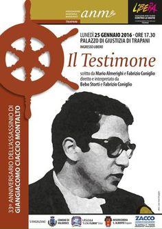 Rappresentazione teatraleper il33° anniversario dell'assassinio di Giangiacomo Ciaccio Montalto.