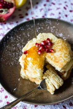 Lemon Ricotta Pancakes - Elegant Weekend Brunch
