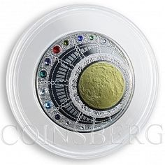 Niue 100 dollars Magical Year of Happiness calendar silver crystals coin 2013