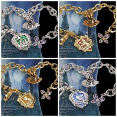 Whip out your wand and dust off your summoning spell because you're going to want these LUMOS Harry Potter Hogwarts Charm Bracelets. In addition to getting a Bijoux Harry Potter, Objet Harry Potter, Mode Harry Potter, Harry Potter Ring, Harry Potter Bracelet, Harry Potter Merchandise, Harry Potter Outfits, Harry Potter Fandom, Harry Potter Memes