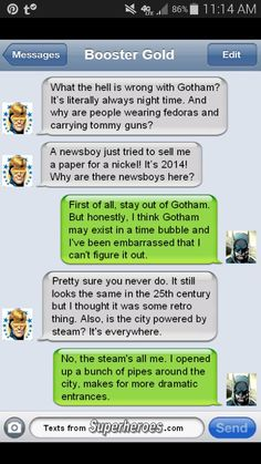 Batman and Booster Gold