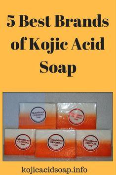 Kojic Acid Soap for Effective Skin Lightening Homemade Skin Care, Diy Skin Care, Rosehip Oil For Skin, Soap For Sensitive Skin, Kojic Acid, Lighten Skin, Even Skin Tone, Natural Skin Care, Skin Products