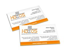 Cartões de visita da empresa Hattos