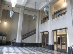 Allstream Centre in Toronto features beautiful architecture Art Deco Buildings, Site Visit, Toronto Canada, Beautiful Architecture, Art Deco Fashion, Contemporary, Modern, Centre, Interior Design