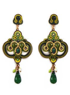 Emerald Bombay Earrings – Modeets.com