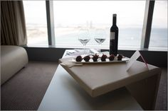 Chocolate Strawberries & Red Wine - W Hotel Barcelona - a Starwood Luxury Hotel - Review of my stay in Spain #barcelona #spain