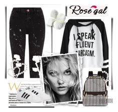 """Rosegal"" by dzenanlevic99 ❤ liked on Polyvore featuring River Island, Henri Bendel and adidas"