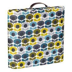 Orla Kiely Multi-Flower Oval Print Garden Kneeler - Blue/Green/Grey