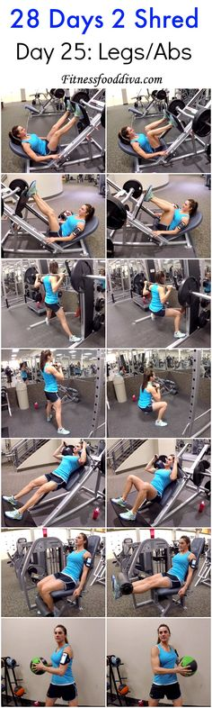 Day 25: Legs/Abs workout/video