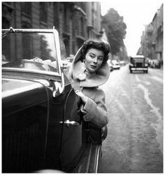 The model Bettina photographed by Georges Dambier in Paris, 1954