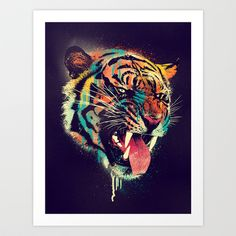 Buy FEROCIOUS TIGER by Dzeri29 as a high quality Art Print. Worldwide shipping available at Society6.com. Just one of millions of products available.