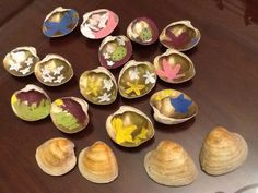 Clam shell concentration game / kids craft / Ancient Japanese game / Japanese art / hand made toys
