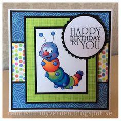 Randis hobbyverden: Fargerikt bursdagskort