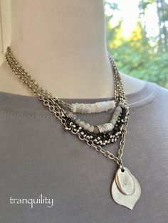 Shop link is in my bio, thanks for looking! Moonstone Necklace, Quartz Necklace, Etsy Jewelry, Handmade Jewelry, Jewlery, Jewelry Necklaces, Xmas Gifts For Her, Rainbow Moonstone, Jewelry Trends