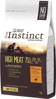 True Instinct High Meat Adult Nourriture pour Chat Poulet Elevé en Plein Air Désossé 7 kg Low Carbohydrate Diet, Plein Air, High Protein, Nutrition, Meat, Fruit, Vegetables, Amazon Fr