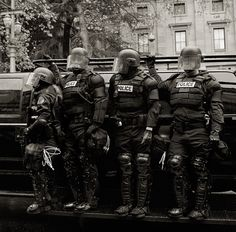 Portland Riot Police (They look like galactic warriors) Public Security, The Inquisition, Riot Police, Downtown Portland, Urban Survival, Military Police, First Novel, Swat, Law Enforcement