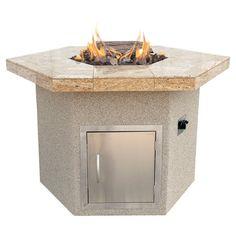 Found+it+at+Wayfair+-+Hexagon+Gas+Fire+Pit+in+Taupehttp://www.wayfair ...
