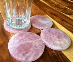 Rose Quartz Stone Coasters | New Moon Beginnings