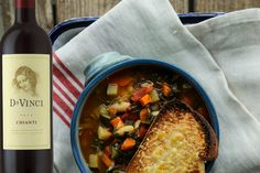 Ribollita is a traditional Tuscan Vegetable Bean Soup that pairs perfectly with DaVinci Chianti