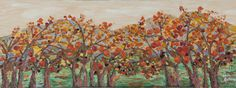 The persimmon colour fall, 감빛 가을 80cmx30cm, Oil painting on canvas, YOUNSEON CHOI, 2014