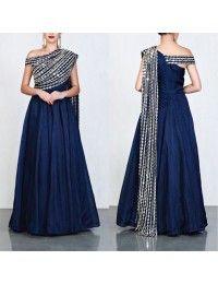 Pink tapeta and jquard silk partywear gown - Designer Dresses Couture Lehenga Designs, Saree Blouse Designs, Indian Designer Outfits, Designer Gowns, Indian Gowns Dresses, Evening Dresses, Couture Dresses, Fashion Dresses, Lehnga Dress