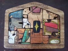Nativity Puzzle wood burned design water by littlesisterscrafts, $69.00