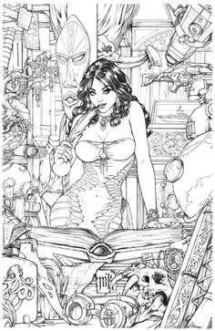 Shahrazad Issue#0 Cover Pencils by Kromespawn.deviantart.com on @deviantART
