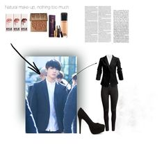 """""""BTS JUNGKOOK LOOK TO GIRL"""" by pinu-kaur on Polyvore featuring H&M, rag & bone, Nly Shoes, MAC Cosmetics and tarte"""